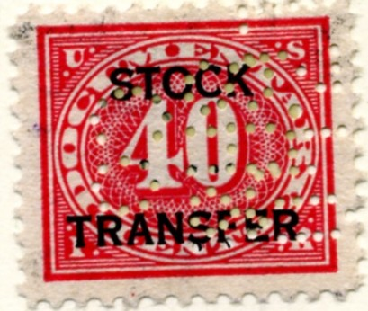 Scott RD8 40 Cent Internal Revenue Stock Transfer Documentary Stamp Watermarked USIR