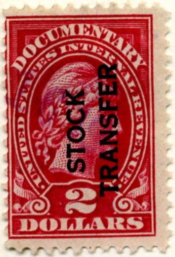 Scott RD13 2 Dollar Internal Revenue Stock Transfer Documentary Stamp Watermarked USIR