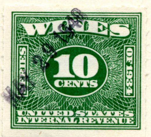 Scott 4910 10 Cents Internal Revenue Wines Stamp