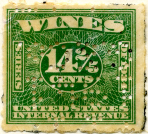 Scott 4911 14 2/5 Cents Internal Revenue Wines Stamp