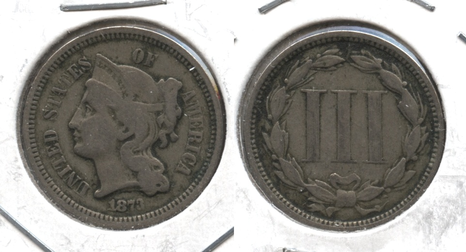 1873 Three Cent Nickel Fine-12 #g