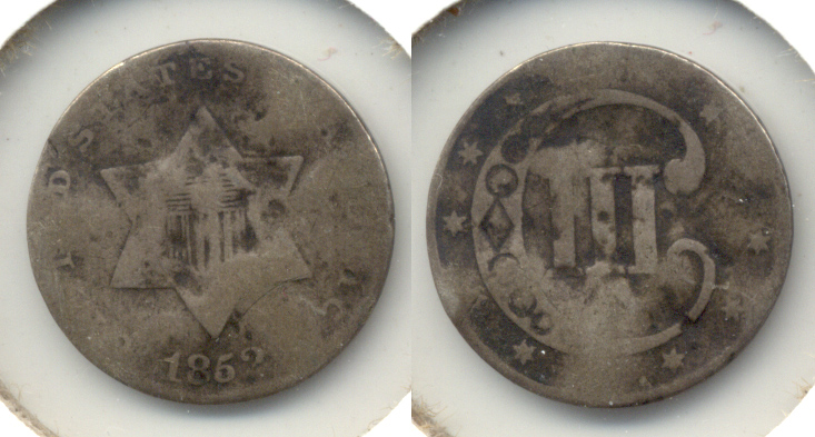 1852 Three Cent Silver Good-4 g Hits