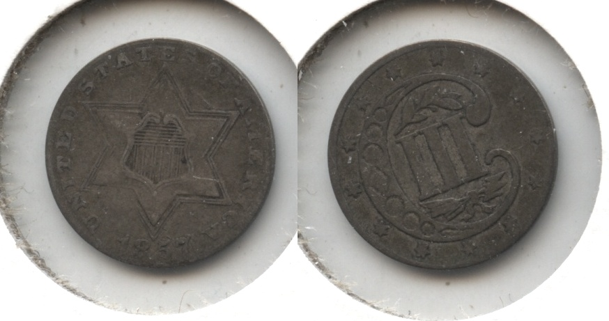 1857 Three Cent Silver VF-20