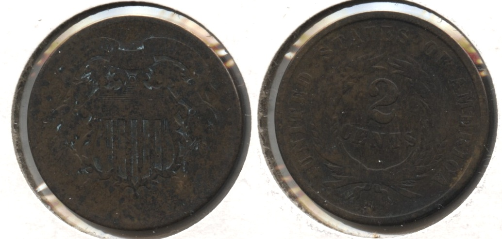 1864 Large Motto Two Cent Piece AG-3 #o