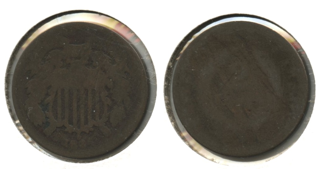 1864 Large Motto Two Cent Piece Fair-2 #a