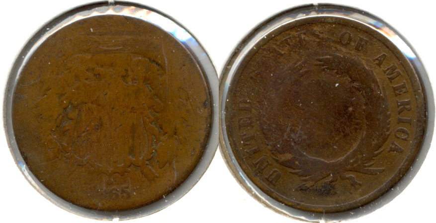 1865 Two Cent Piece AG-3 a