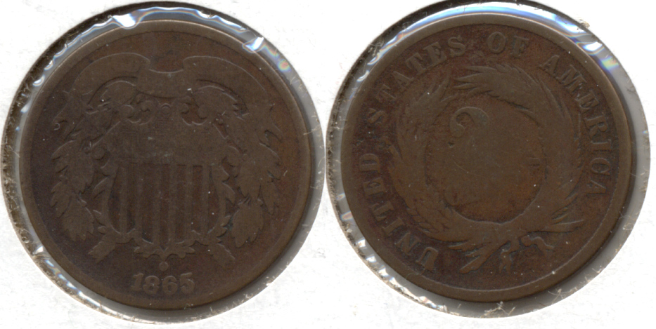 1865 Two Cent Piece AG-3 n