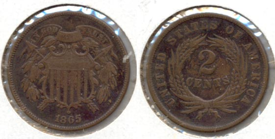 1865 Two Cent Piece Fine-12