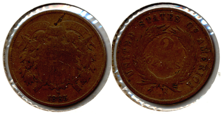 1865 Two Cent Piece Good-4 g