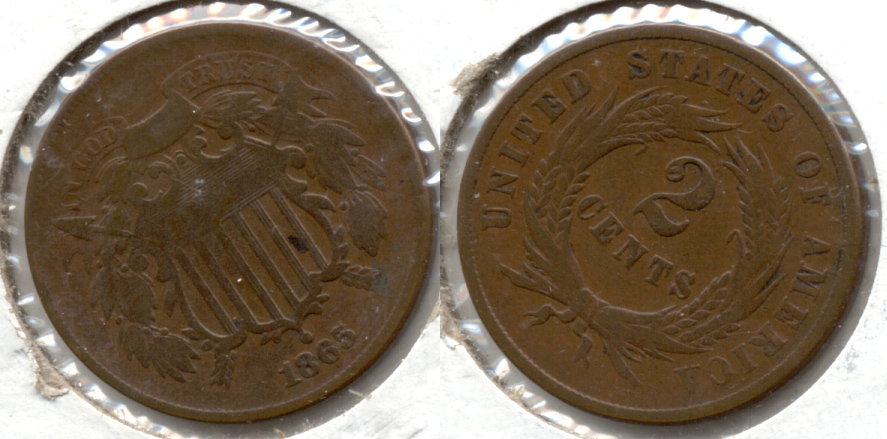1865 Two Cent Piece Good-4 o