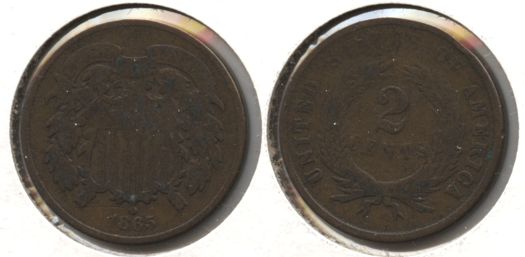 1865 Two Cent Piece Good-4 #w