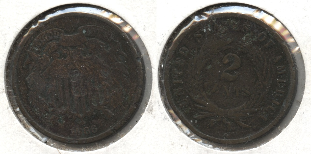 1866 Two Cent Piece AG-3 #f