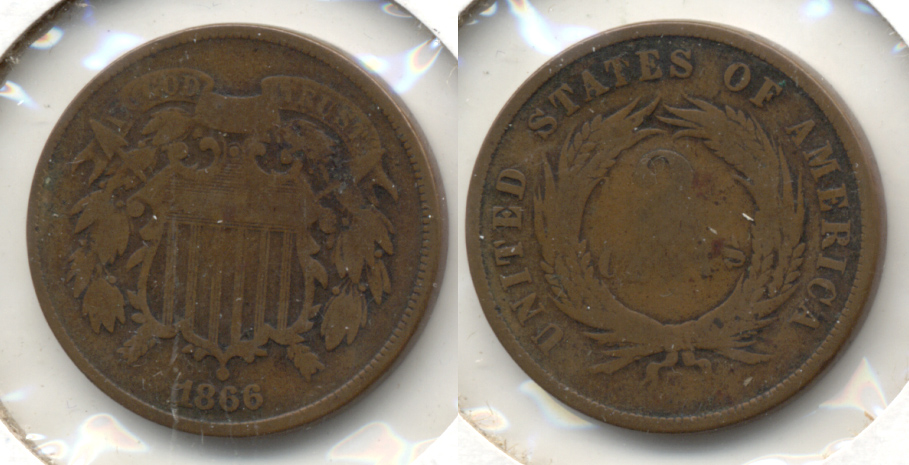1866 Two Cent Piece Good-4 d