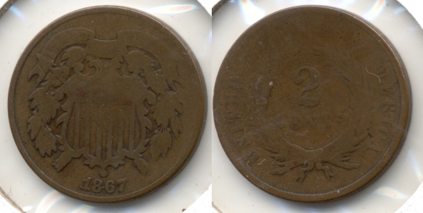 1867 Two Cent Piece AG-3