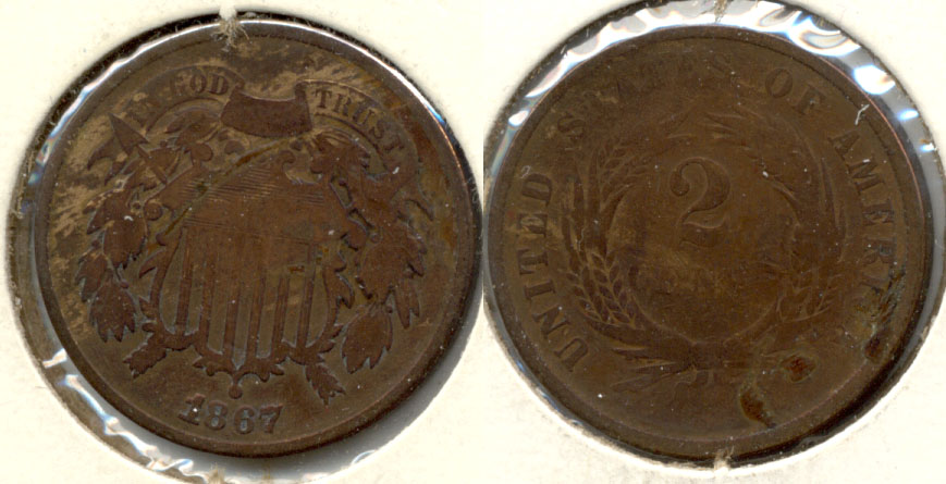 1867 Two Cent Piece Good-4