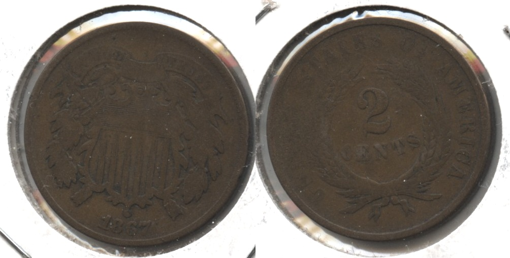 1867 Two Cent Piece Good-4 #i