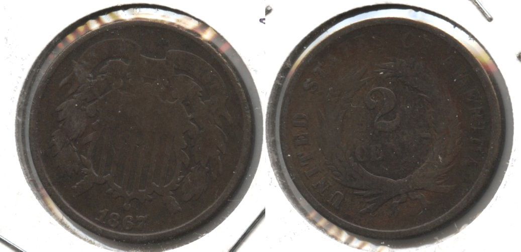 1867 Two Cent Piece Good-4 #m