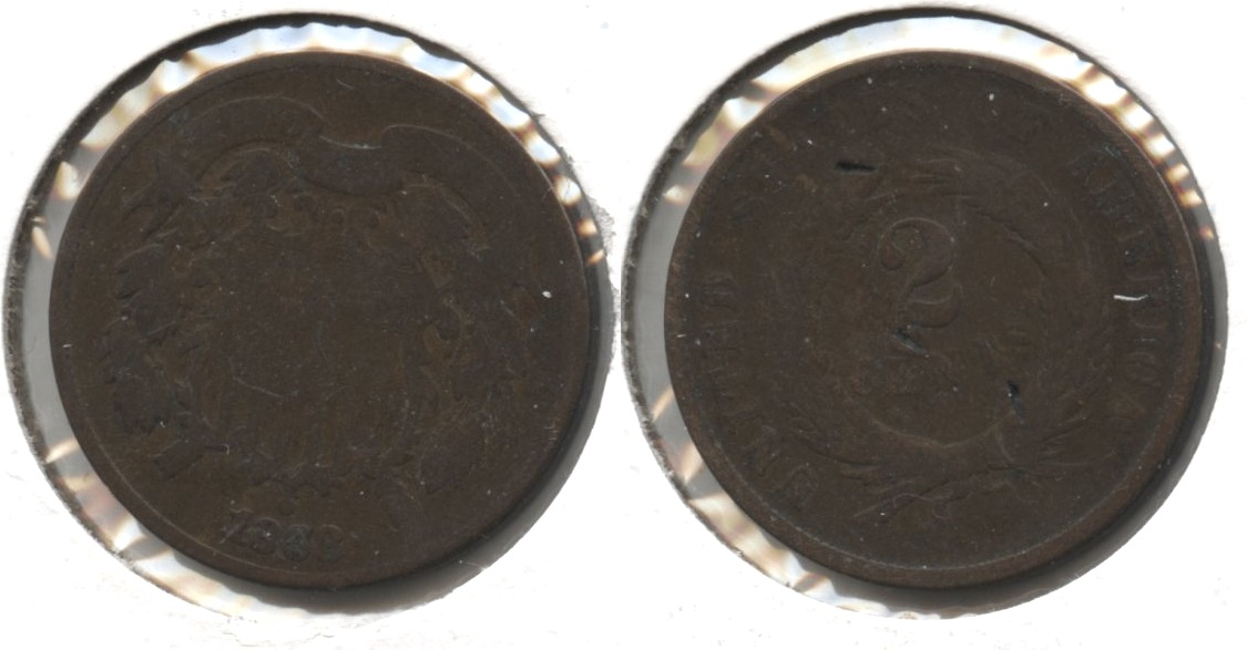 1868 Two Cent Piece AG-3 #c