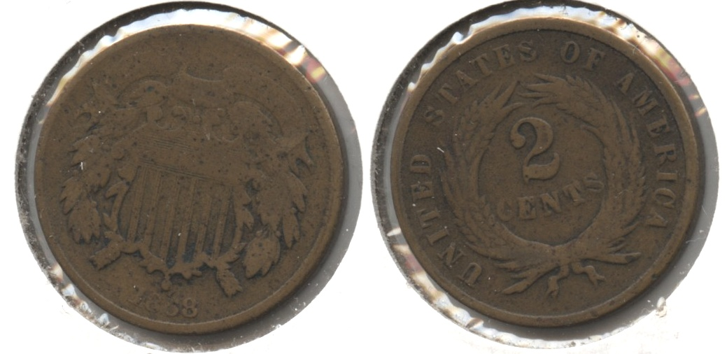 1868 Two Cent Piece Good-4 #f