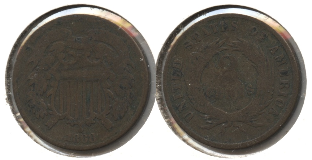 1868 Two Cent Piece Good-4 #g