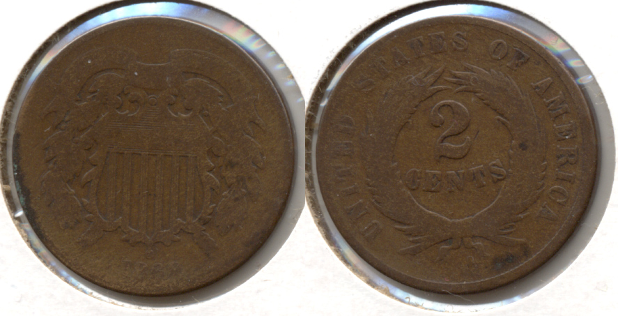 1869 Two Cent Piece AG-3 c