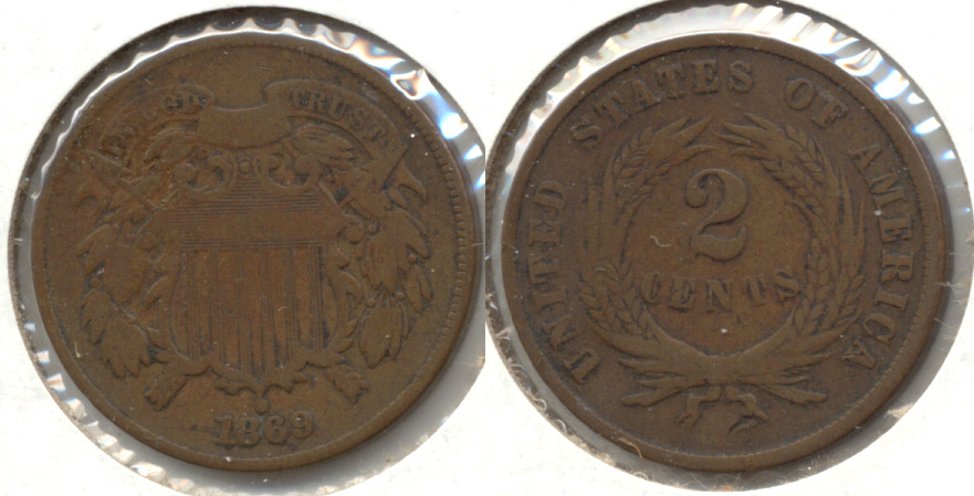1869 Two Cent Piece Good-4 b