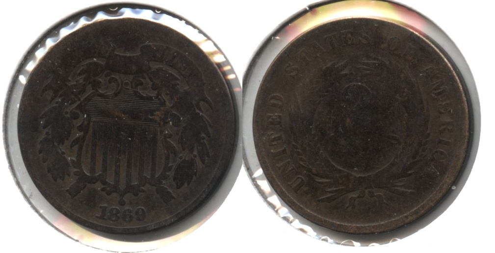 1869 Two Cent Piece Good-4 #h