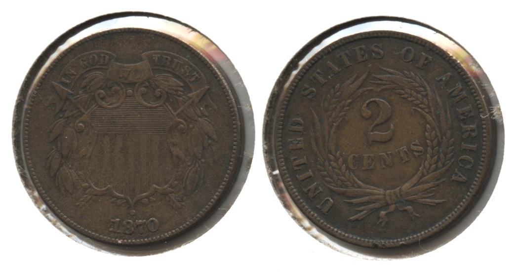 1870 Two Cent Piece EF-40