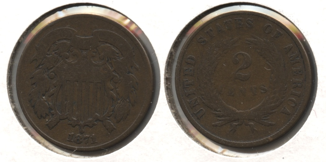 1871 Two Cent Piece Good-6